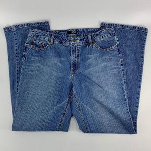 A.N.A. Boot Cut Distressed Medium Wash Denim Jeans